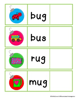 Deck The Halls With Differentiated Word Work-Sounds, CVC a