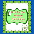 Deck out Your Holidays Math Multiply Add Subtract Card Games