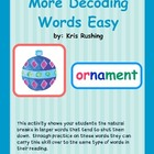 Decoding Words Easy Set # 2