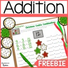 Decomposing Numbers: Christmas Cookie Freebie