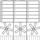 Decomposing Numbers K.OA.A.3 Snowflake Winter Ornament
