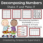 Decomposing  Numbers ~ Shake-It and Make-It
