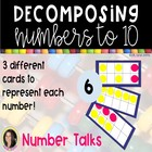 Decomposing Numbers to 10 Tens Frame Dot Cards ~ Polka Dots