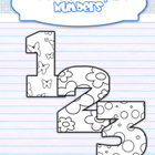 Decorated numbers for coloring