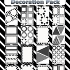 Editable Decoration Pack - Black & White