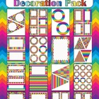 Decoration Pack - Crazy Rainbow theme