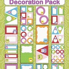 Editable Decoration Pack - Friendly Owls