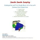 Deedle Deedle Dumpling K-1 Activities with Common Core Con