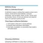 Definition Essay Instructions