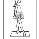 Degas. Little Dancer, Aged 14 Years. Coloring page & lesso