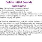 Deleting Initial Sound Card Game (Phonemic Awareness-TPRI)