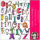 Deluxe Funky Alphabet bundle by melonheadz
