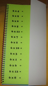 Deluxe Multiplication Fact Flip