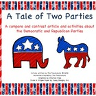 Democrats vs. Republican Compare/Contrast Article w/ activities