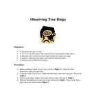 Dendrochronology - Tree Ring Analysis