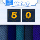 Denim classroom theme {Backgrounds, labels, letters and numbers}