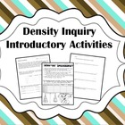 Density Inquiry Introductory Activities
