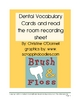 Dental Dentist Vocabulary Cards, Read the Room