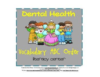 Dental Health ABC Order Activity