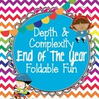 Depth and Complexity End of the Year FREE Foldable Fun for