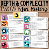 Depth and Complexity Task Cards {Social Studies}