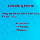 Describing People Fun Activity