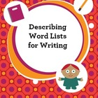 Describing Word Lists for Writing