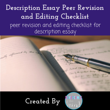 Description Paper Peer Edit Sheet