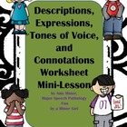 Descriptions and Pragmatics Mini-Lesson with Student Worksheets