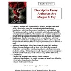 Descriptive Essay High School: Arthurian Art
