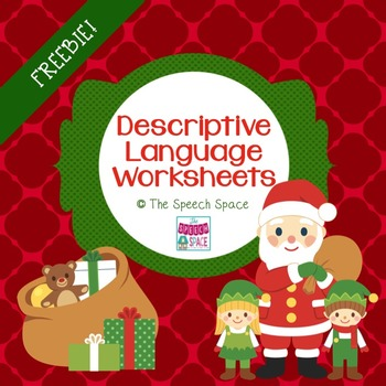 Descriptive Language Holiday Freebie