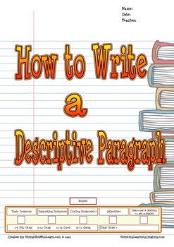 Descriptive Paragraph (Writer's Process)