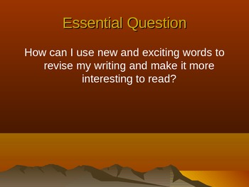 Descriptive Writing using Sunsets - Corresponding Powerpoint
