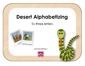 Desert Alphabetizing to three letters