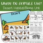 Desert Animals: facts, minibook, craftivity, center+