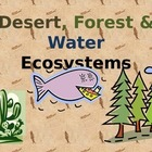 Desert, Forest & Water Ecosystem/Biome (PowerPoint) For El