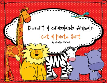 Desert and Grassland Animals: Cut & Paste Activity