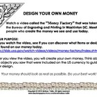 Design Your Own Currency (Money) Center; ELA, ART, & Socia
