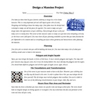Design a Mansion Geometry and Measurement Project