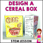 Design a cereal box PowerPoint + template Year 3
