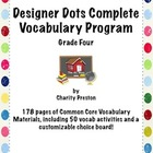 Designer Dots Theme Grade Four CCSS Complete Vocabulary Pr