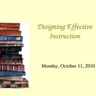 Designing Effective Instruction PowerPoint