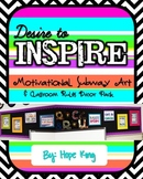 Desire to Inspire: Subway Art and Classroom Rules Decor Pack