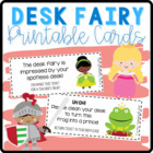 Desk Fairy Reward and Reminder Cards