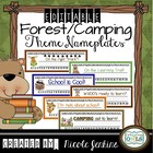 Camping/Forest Theme Nameplates Any Grade