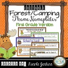 Desk Name Plates Camping Theme First Grade