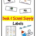 Desk & School Supply Labels (with pictures!)