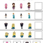 Despicable Me themed What Comes Next educational preschool game.