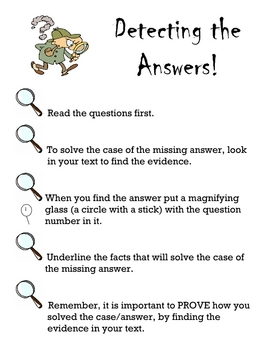Detecting Answers (Reading Comprehension Strategy)