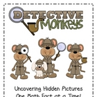 Detective Monkeys - 100&#039;s Chart Hidden Pictures